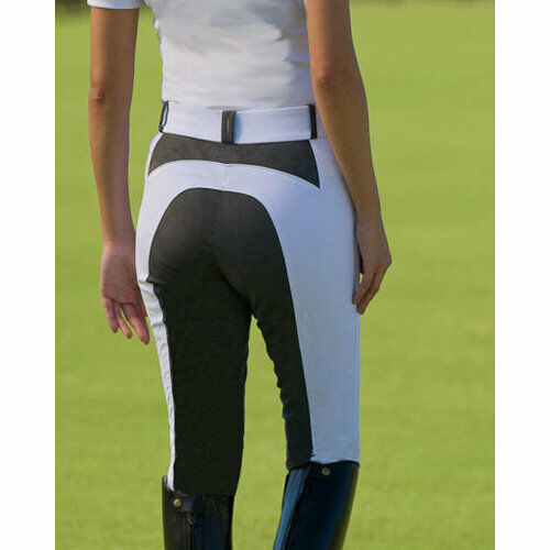 Arista Nano Full Seat Breeches blanc with gris Seat