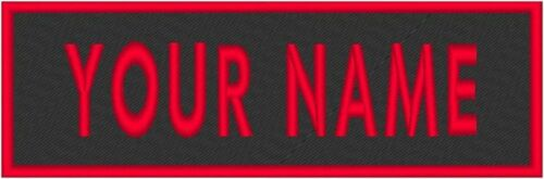 """Tactical Custom Embroidered 11/"""" x 4/""""  Name Tag Patch W// VELCRO® Brand Fastener"""