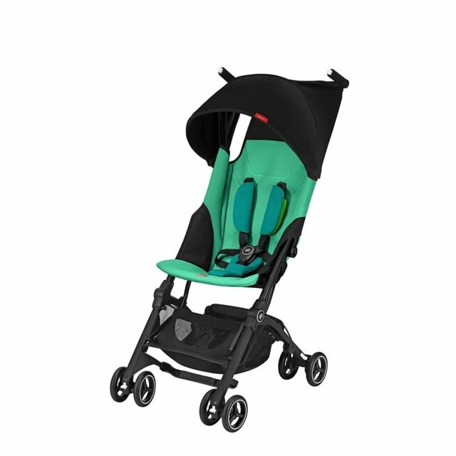 gb pockit lightweight ultra compact fold travel stroller laguna blue