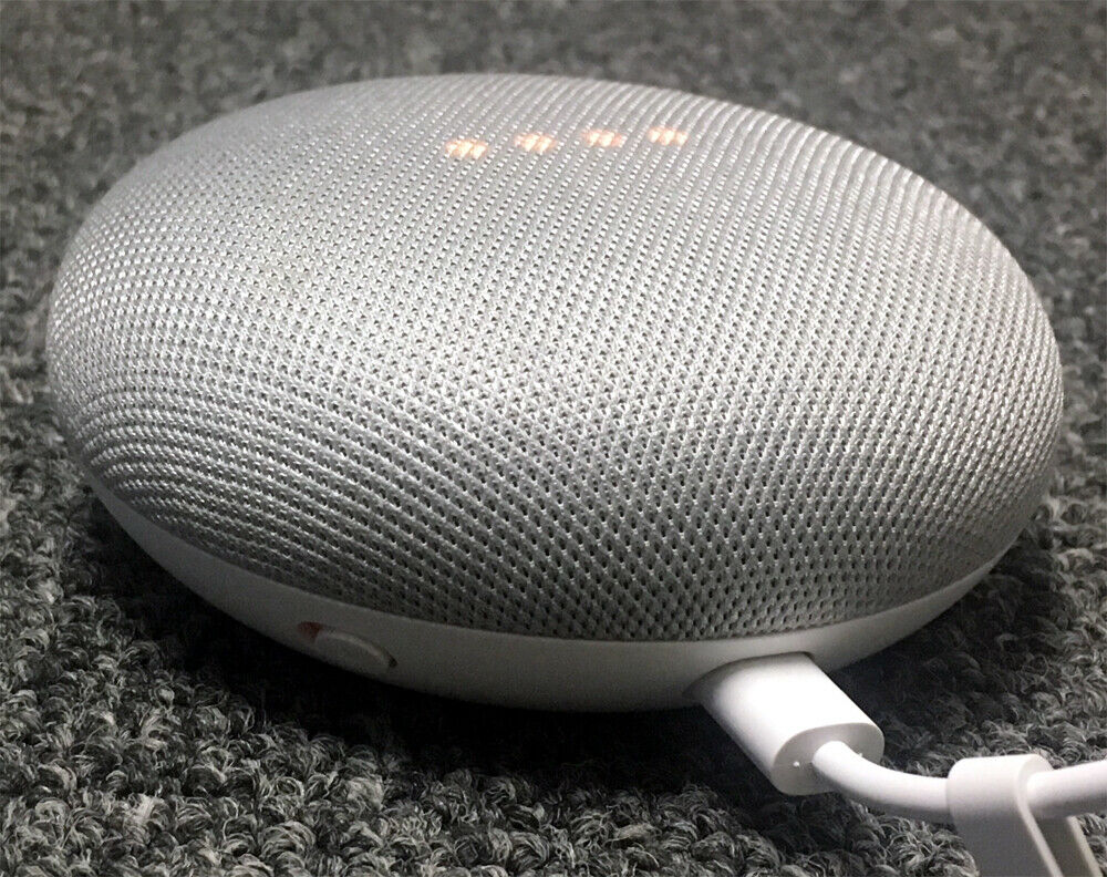 Google Home Mini Smart Small Speaker - Chalk Grey