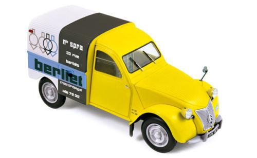 NOREV 1 18 1956 Citroen 2CV Van BERLIET Diecast modèle de voiture 181600 jaune