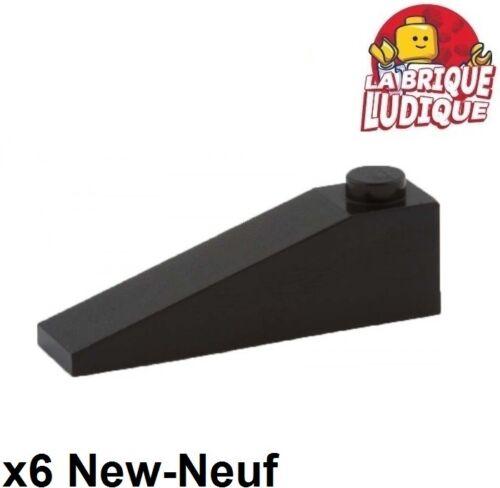 6x slope brique pente inclinée 18 4x1 noir//black 60477 NEUF Lego
