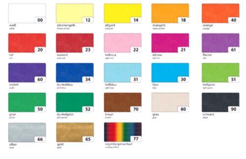 folia Seidenpapier verschiedene Farben zur Auswahl 500 x 700 mm 20 g//qm