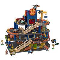 Kidkraft Deluxe 4 Level Detailed Wooden Car Garage 32 Piece Kids Playset   63600 on sale
