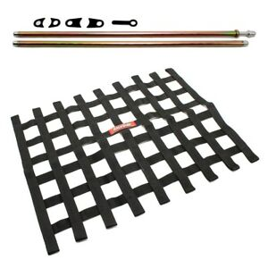 Circle Track Supply >> Details About Racequip Black Window Net And Mounting Install Kit Non Sfi Circle Track Racing