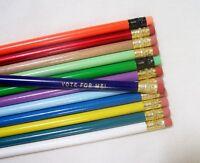 24 Round Personalized Pencils In 24 Different Colors (no Glitzy)