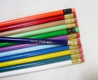 12 Round Personalized Pencils In 12 Different Colors (no Glitzy)