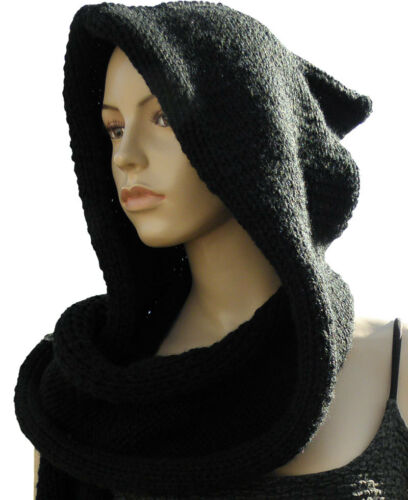 Instructions from knitwitzuk Celtic Hooded Scarf Wrap Knitting Pattern