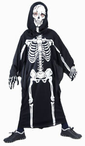 SCARY-SKELETON-BOYS-HALLOWEEN-PARTY-FANCY-DRESS-GIRLS-COSTUME-REDUCED-10-12-YRS