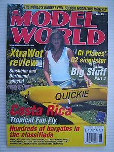RC-Modell-Welt-Radio-Kontrollierte-Flugzeug-Juni-2001-Komplett-Mit-Unbenutzt