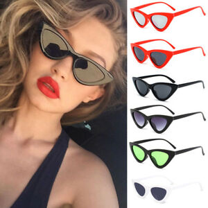 7ca05c9814 Image is loading Womens-Cat-Eye-Sunglasses-Fashion-Retro-Vintage-Eyewear-