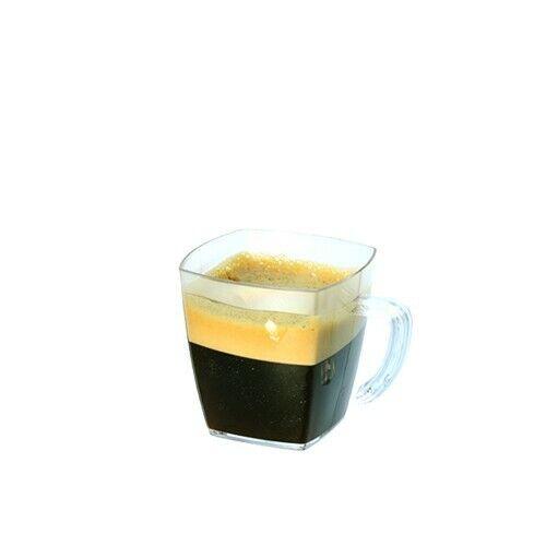 PLASTIC DISPOSABLE CLEAR DESSERT DESSERT DESSERT SHOT GLASSES CUPS SQUARE BOWL CIRCLE WAVE 1193c5