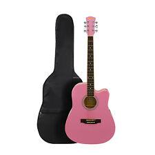 "cf4be43bc95 41"" Inch Wooden Guitar Set Folk Acoustic Classical Cutaway Steel String"