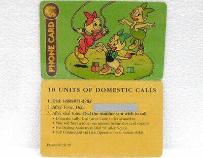 """PHONECARD PREPAID-DISNEY CLASSIC /""""EMY ELY EVY/""""scad 09//97"""