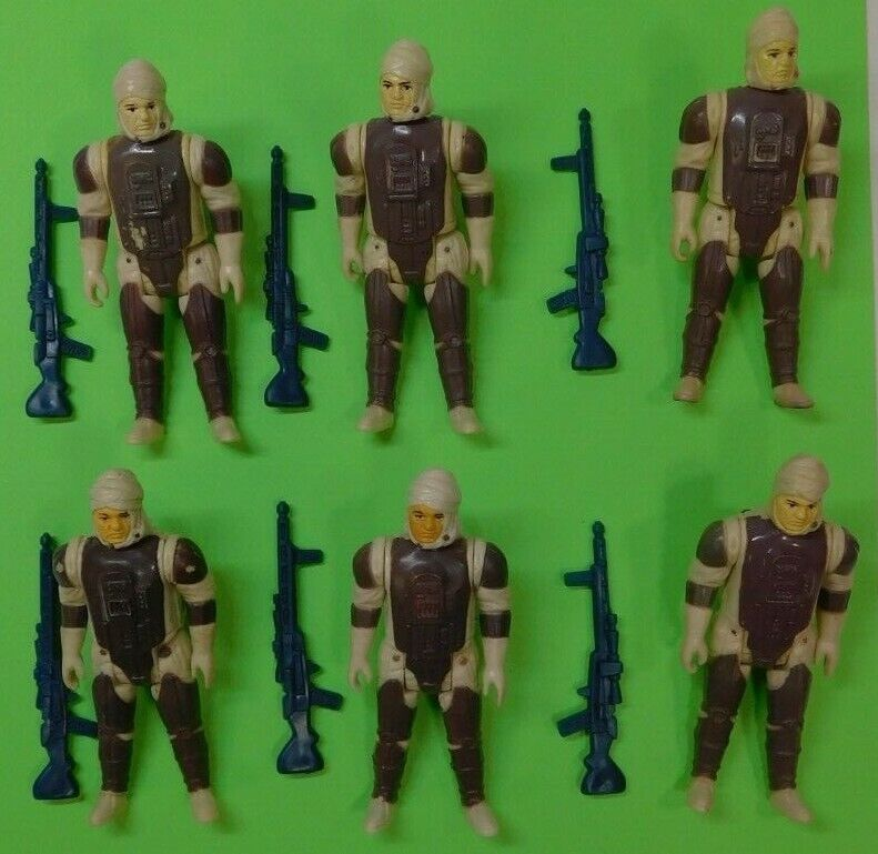 De colección Guerra de las galaxias 6 figuras Dengar Lote de 1981 Completa