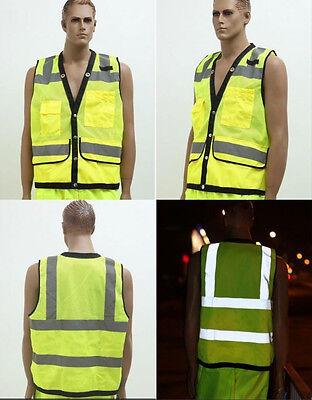 Traffic Safety Fluorescent Waistcoat Reflective Vest Uniforms & Work Clothing