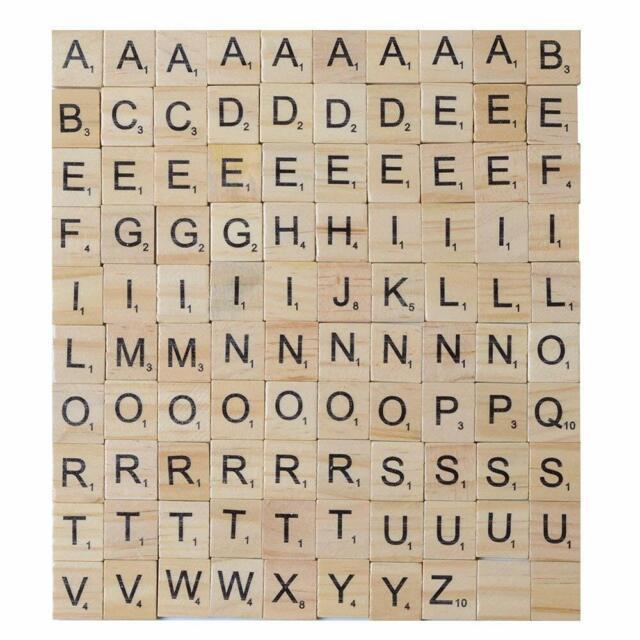 PLASTIC 100 Scrabble Tiles Letters Wooden Set of Game Choice