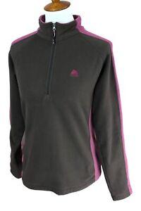 Nike-Women-039-s-ACG-All-Conditions-Gear-1-4-Zip-Fleece-Brown-Pink-Jacket-Medium