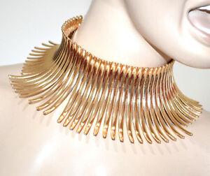 nuovi stili 0bc34 3fe32 Dettagli su COLLANA ORO donna collarino collare rigido girocollo dorato  collier elegante G15