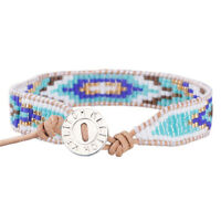 Bohemia Crystal Seed Beads Wrap Bracelet Handmade Friendship Bangls Jewelry