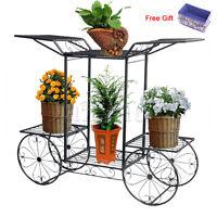 6 Tiers Metal Plant Stand Flower Pot Display Shelf Garden Patio Indoor Outdoor