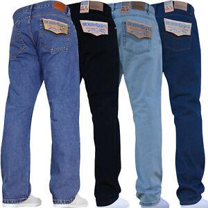 New-Mens-Straight-Leg-Basic-Work-Jeans-Denim-Pants-All-Waist-Big-King-Tall-Sizes