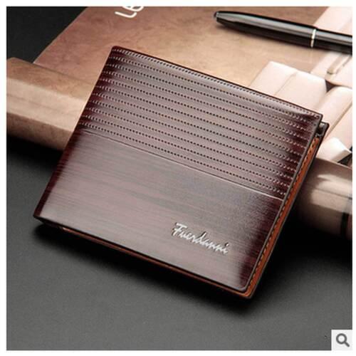 Luxury Men/'s New Wallet Intagliated Leather Open Casual Multifunction Money Clip