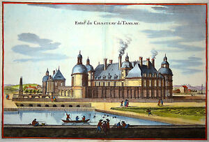Gravure-Kupferstich-Print-Caspar-MERIAN-Topographia-Galliae-Chateau-de-Tanlay