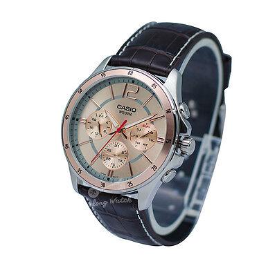 -Casio MTP1374L-9A Men's Strap Fashion Watch Brand New & 100% Authentic