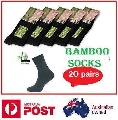 3x Mens Socks Organic Bamboo Odour ResistantNaturally Healthy Quick Dry