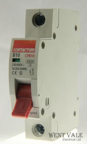 CPB10-B10//1-10a Type B Single Pole MCB Un-used Contactum CP Range