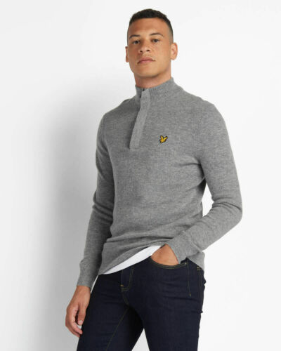 Lyle and Scott Mens 1//4 Zip Tipped Funnel Neck Jumper