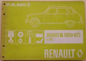 Renault-6-850-R1180-1969-73-Original-Illustrated-Factory-Parts-Catalogue-PR-880