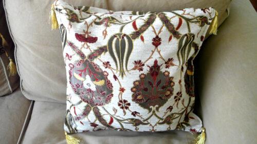 "Turkish Anatolian Ottoman Jacquard Pillow Cover Double Side Zippered 17/""x17/"",M4"