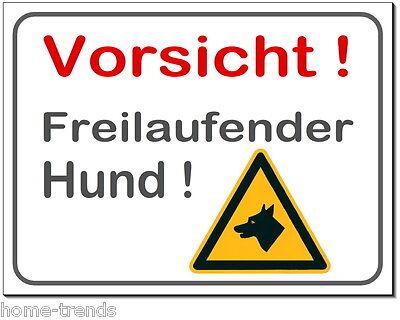 Freilaufender-hund-alu-schild-0,5-3 Mm Dick-türschild-warnschild-hundeschild Haustierbedarf
