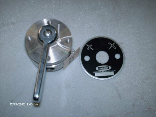 """NEW Conant Precision Selector Valve #PVCT-2316-3//8 4-3//8/""""Ports Stainless Steel"""