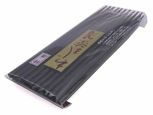 10-Pairs-9-034-L-Japanese-Durable-Black-Lacquer-Wooden-Chopsticks-Set-Made-in-Japan