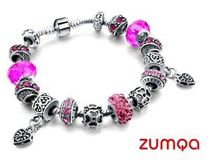 Murano-Fuschia-Pink-Studded-Beads-by-ZUMQA-COD-PAYPAL