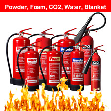 FIRE EXTINGUISHERS DRY POWDER ABC FOAM WATER CO2 BLANKET HOME OFFICE WAREHOUSE