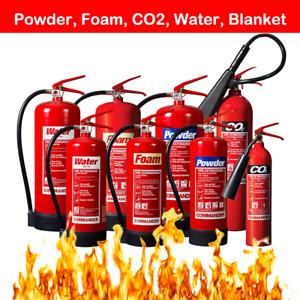 ABC POWDER FIRE EXTINGUISHER 1KG 2KG 4KG 6KG DRY HOME OFFICE CAR MOUNT TAXI BOAT