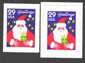 US-2873-29c-Sant-Claus-Christmas-Coil-amp-Booklet-Single-Lot-of-2-MNH-1994