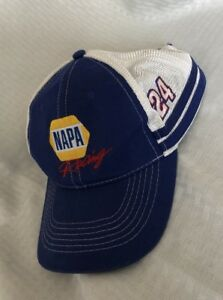 26e135e3b18b5 Napa Racing Hat Cap 24 Chase Elliot Hendrick Motorsports Blue One Sz ...