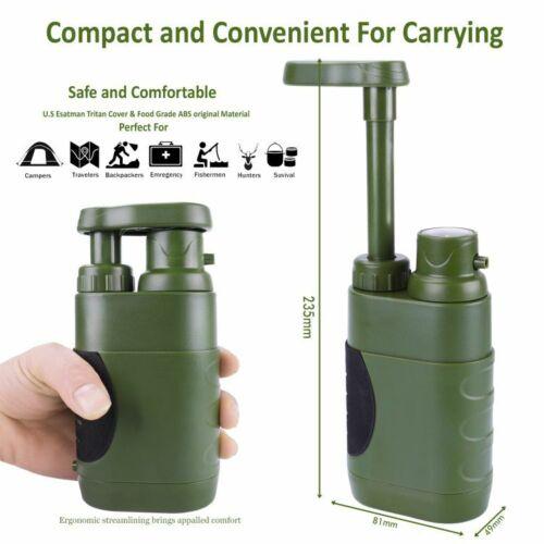 Wasserfilter kompakte Pumpe zur Wasserversorgung Army Militär Hohlfaser 0,01μm
