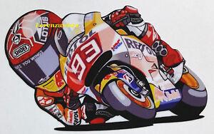 Marc-Marquez-93-moto-piega-gomito-DX-sticker-motogp-adesivi-caricatura-MM93
