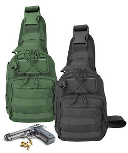 Nylon-Crossbody-Multiple-Compartments-Conceal-Carry-Tactical-Gun-Sling-Bag