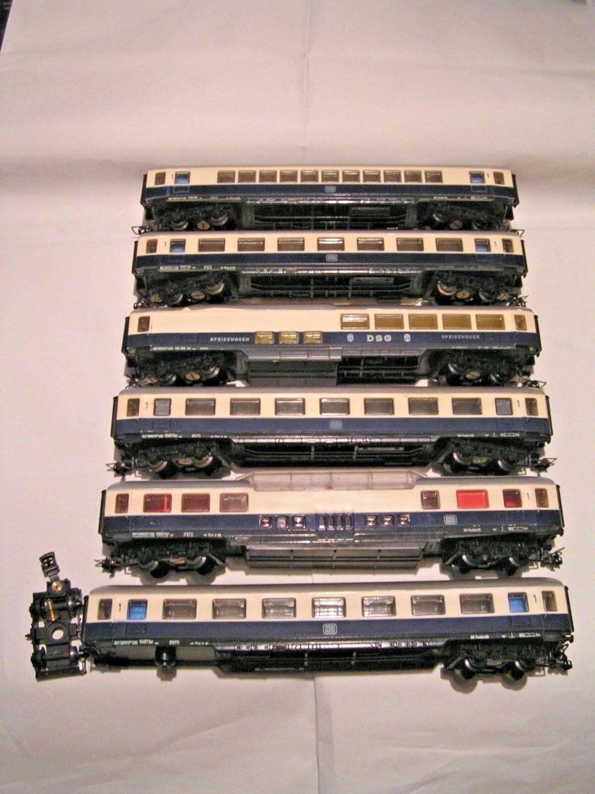 MECCANO   HORNBY AchO 1 87 - 2 rails  -  RAME RHEINoro DE 6 VOITURES