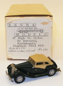 Kenna-Models-1-43-Scale-White-Metal-Model-Car-166-MG-TD-Closed-Green
