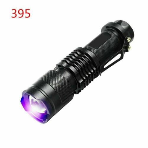 UV Ultra-Violet LED Flashlight Blacklight Light 395//365nM Inspection Lamp Torch.