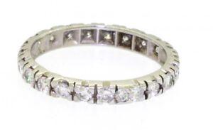 14k-White-Gold-1-0ct-VS1-G-Diamond-Eternity-Band-Ring-Size-6-75