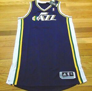 73d8aec5bcb ADIDAS NBA REVOLUTION 30 UTAH JAZZ BLUE AUTHENTIC BLANK JERSEY SIZE ...